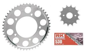RK 530 Standard Chain JT Sprockets for Honda NS400R 1986-87 15t/40t
