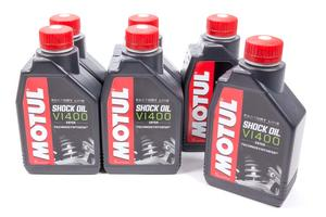 Motul USA VI 400 Shock Oil Factory Line Shock Oil 1 L 6 pc P/N 105923-6