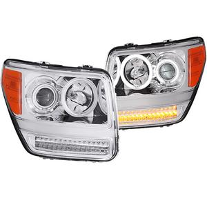 Anzo USA 111144 Projector Headlight Set w/Halo Fits 07-11 Nitro