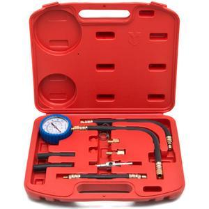 Biltek 0-100 PSI Fuel Injection Pump Injector Tester Test Pressure Gauge Gasoline Cars