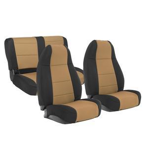 Smittybilt 471125 Neoprene Seat Cover For 91-95 Wrangler YJ Light Tan Front/Rear