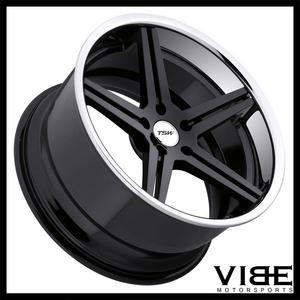"20"" TSW MIRABEAU GLOSS BLACK CONCAVE WHEELS RIMS FITS INFINITI G37 G37S COUPE"