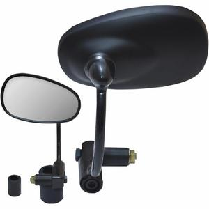 Parts Unlimited 0640-0932 Bar End Mirror - Oval - Black