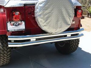 Rampage 8448 Rear Double Tube Bumper Fits 76-06 CJ5 CJ7 TJ Wrangler