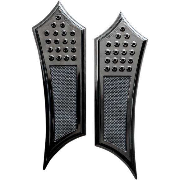 Accutronix FBF91-DIB Extended Drilled Instigator Floorboards - Rubber Heel - Black