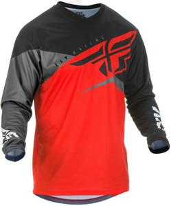 Fly Racing F-16 Youth Jersey Red/Black/Gray (Red, Small)