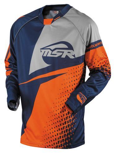 MSR NXT Jersey Navy/Gray/Orange (Blue, Medium)