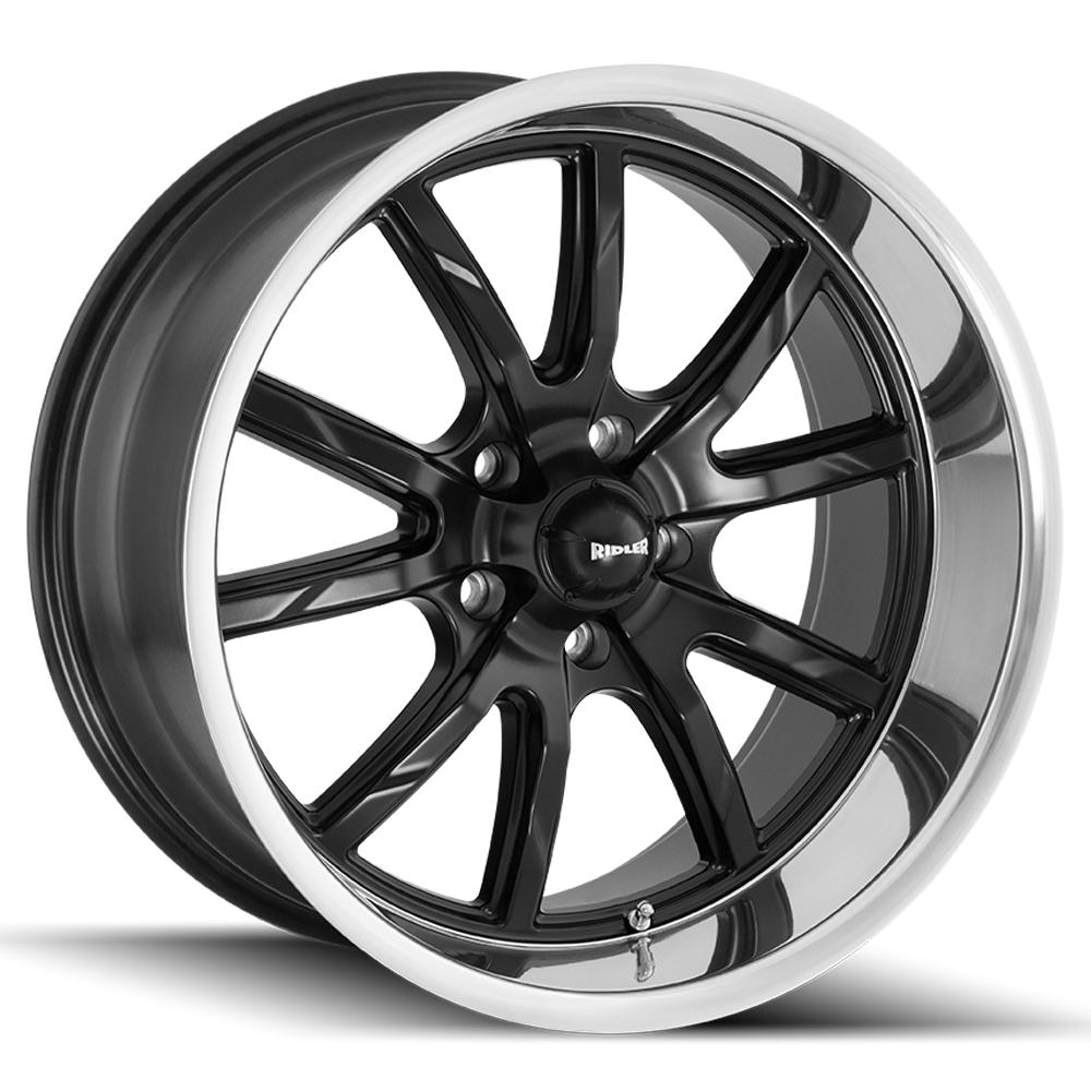 "Ridler 650 15x7 5x4.75"" +0mm Matte Black Wheel Rim 15"" Inch"