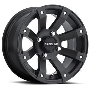 Raceline A7947011-52 Scorpion Wheel - 14x7 - 5+2 Offset - 4/110 - Black