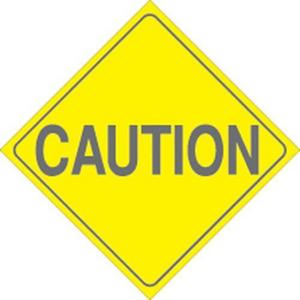 Voss 456 CA7 YR 7-1/2in.x 7-1/2in. Trail Sign - Caution (Yellow)