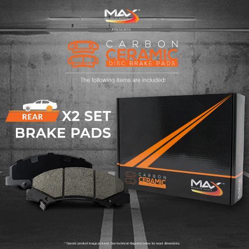 2011-2016 Caprice 2008 2009 G8 Max Performance Ceramic Brake Pads Rear