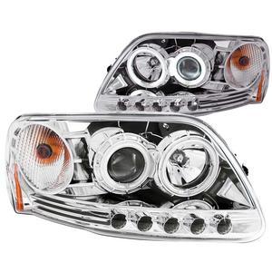 Anzo USA 111054 Projector Headlight Set w/Halo