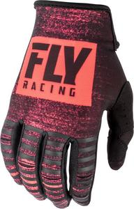 Fly Racing Kinetic Noiz Youth Gloves Neon Red/Black (Red, 6)