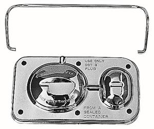 Trans-Dapt Performance Brake Master Cylinder Cover; Early GM(1967-80); 3 x 5-5/8