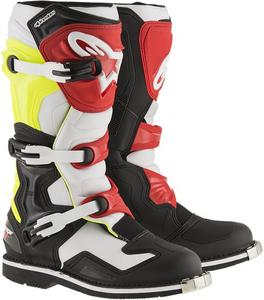 Alpinestars Tech 1 Offroad Motocross Boots Black/White/Yellow/Red Mens Size 16