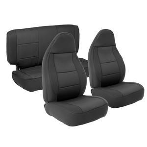 Smittybilt 471201 Neoprene Seat Cover 97-02 Wrangler (TJ) Black/Black Front/Rear