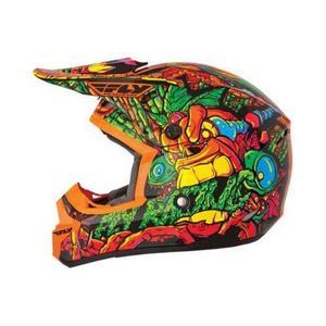 Fly Racing 73-4766 Mouthpiece for Kinetic Jungle Helmet - Orange/Green