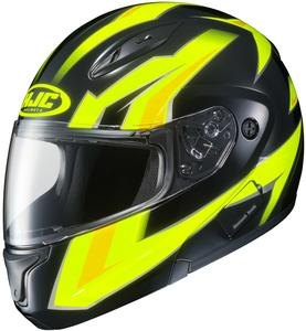 HJC CL-Max II Ridge Helmet Hi-Viz Yellow (MC-3H) (Yellow, Large)
