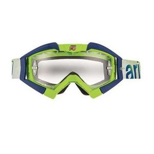 Ariete Riding Crows Basic Collection Goggles Lime/Blue (Green, OSFM)