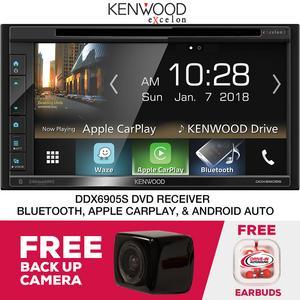 "Kenwood Excelon DDX6905S 6.8"" Receiver Apple CarPlay & Free Backup Camera"