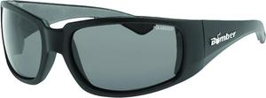 Bomber Stink Bomb Polarized Floating Sunglasses Matte Black / Smoke Lens (Black, OSFM)