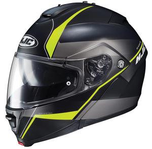 HJC IS-Max II Mine Helmet Semi-Flat Hi-Viz Yellow (MC-3HSF) (Black, Large)