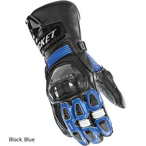 Joe Rocket GPX Leather Race Gloves Black/Blue Mens Size XL