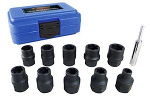 "Astro Pneumatic 11pc 1/2"" Dr Metric Flank Bite Damaged Fastener Impact Sockets"