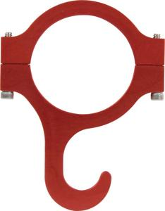 QUICKCAR RACING PRODUCTS Clamp On 1-3/4 Red Helmet Hook P/N 66-920