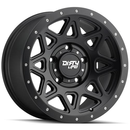 "4-Dirty Life 9305 Theory 18x9 6x135 +0mm Matte Black Wheels Rims 18"" Inch"