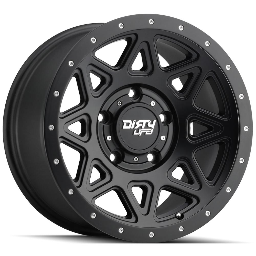 "4-Dirty Life 9305 Theory 18x9 6x5.5"" +0mm Matte Black Wheels Rims 18"" Inch"