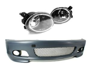 00-06 BMW E46 3-SERIES 2DR M-TECH II STYLE FRONT BUMPER w/ CLEAR FOG LIGHTS