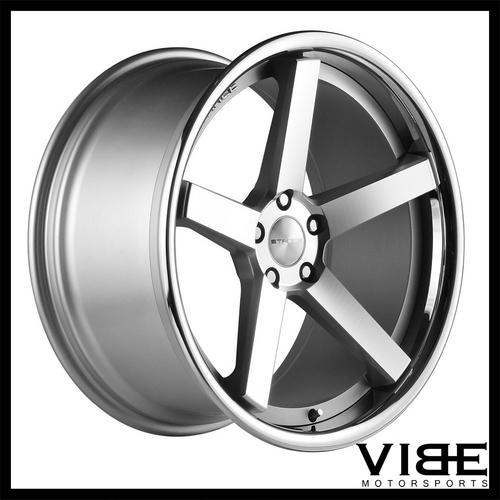 20 Stance Sc5 Silver Concave Wheels Rims Fits Ford Mustang Gt Gt500