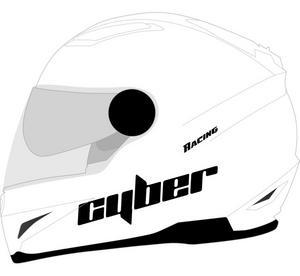 Cyber Adult Motorcycle Helmet US-108 White XL