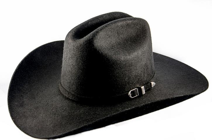 Monte Rey Felt Hat, Size 56 (10X) Cowboy Hats, Black