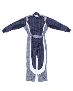 SIMPSON SAFETY Black/White/Gray Med Crossover 1 Piece Driving Suit P/N 1902221