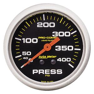 AutoMeter 5424 Pro-Comp Liquid-Filled Mechanical Pressure Gauge