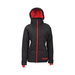 Fly Racing Lean Womens Jacket Black/Red (Black, X-Large)