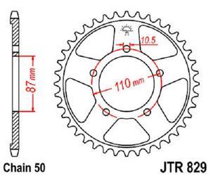 JT Sprockets Steel Rear Sprocket 43T 530 Pitch JTR829.43