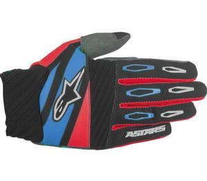 Alpinestars Techstar Factory Gloves Black/Red/Blue (Red, Medium)