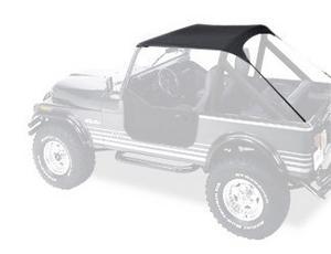 Bestop Traditiona?l Bikini 76-91 Jeep CJ7 CJ8 Wrangler YJ Black Crush 52508-01