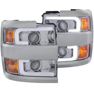 Anzo USA 111360 Projector Headlight Set Fits Silverado 2500 HD Silverado 3500 HD