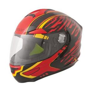 Fly Racing Luxx Shock Helmet Red/Black/Yellow (Red, X-Large)