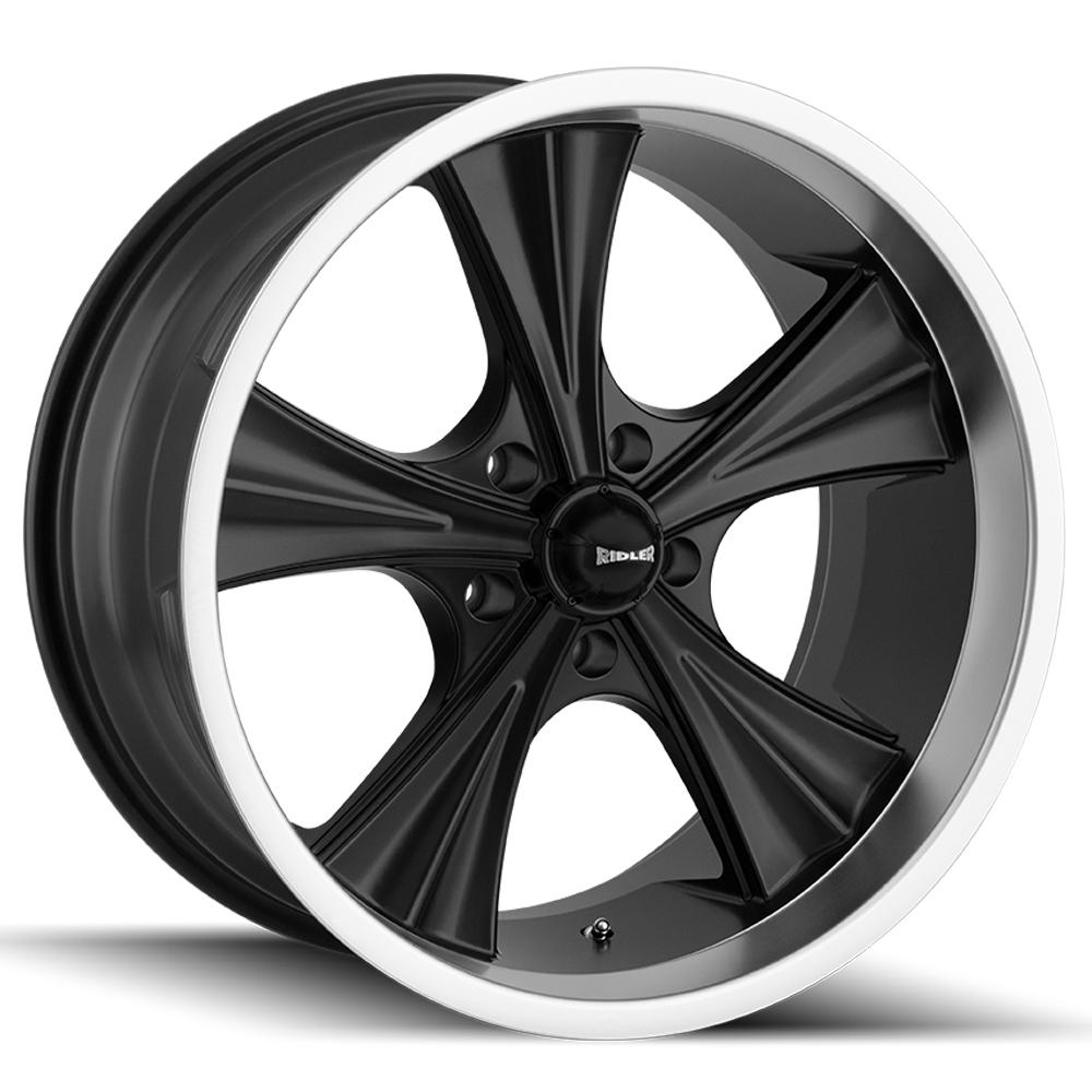 "Ridler 651 22x9.5 5x4.5"" +18mm Matte Black Wheel Rim 22"" Inch"