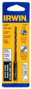 Irwin Tools 4935637 Black Oxide Hex Shank Drill Bit, 9/64-Inch