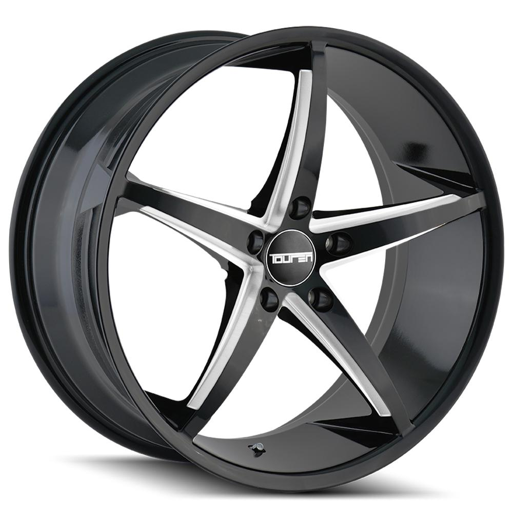 "Touren TR70 20x10 5x120 +40mm Black/Milled Wheel Rim 20"" Inch"