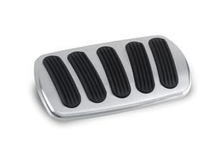 Lokar BAG-6183 Billet Aluminum Curved Automatic Non-Power Brake Pedal Pad