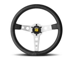 Momo Black Leather Grip 3 Spoke Heritage Prototipo Steering Wheel P/N PRH35BKOS