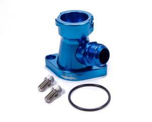 CSR PERFORMANCE Blue Anodized 90 Degree Water Neck Kit Chevy V8 P/N 913AN16B