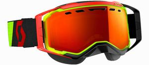 Scott USA Prospect Snowcross Goggles Yellow/Red / Amp Red Chrome Lens (Yellow, OSFM)
